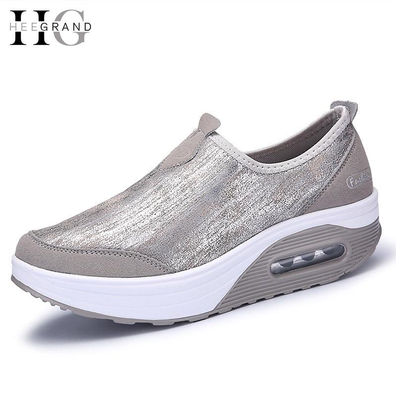 Hee grand 2017 resbalón en holgazanes de primavera mujer zapatos de plataforma e