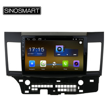 SINOSMART 10.1'' 4 Core RAM 2G/1G Android 6.0 Car Navigation GPS Player for Mitsubishi Lancer 2006-2016 No Canbus(China)