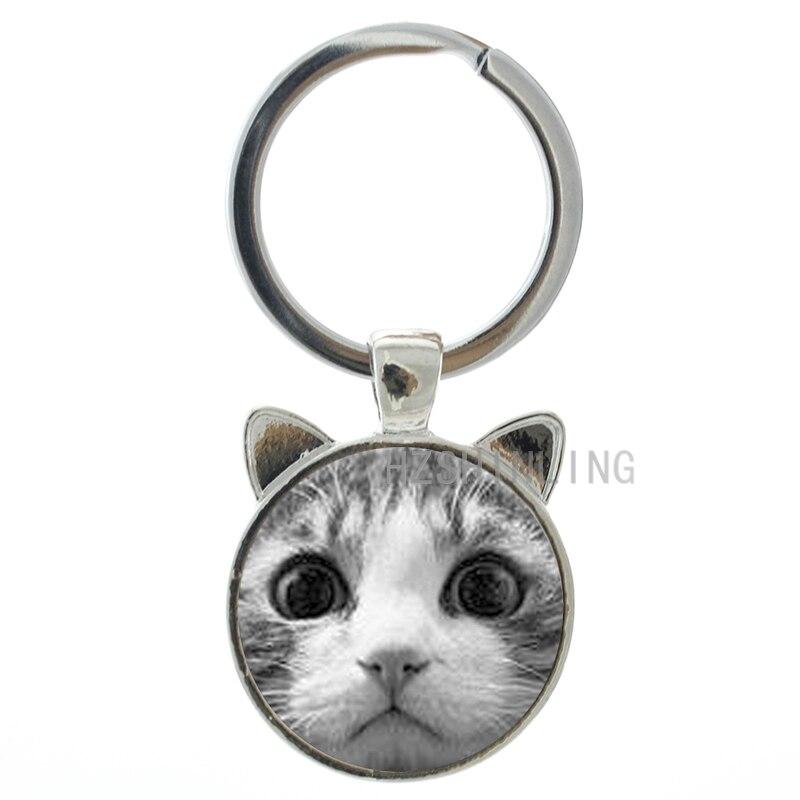 2016 newest design cute cat ear keychain women bag purse pendant jewelry key ring fashion accessories chain holder CN291