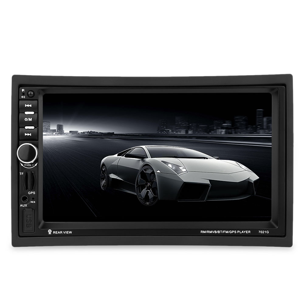 7021G 7 inch TFT Touch Screen Car MP5 Player 2 Din Bluetooth Multimedia FM Stereo Auto Radio GPS Map Remote Control Video Player 7 inch 2 din 7021g car mp5 player gps navagation bluetooth auto multimedia player with fm radio rear view camera remote control