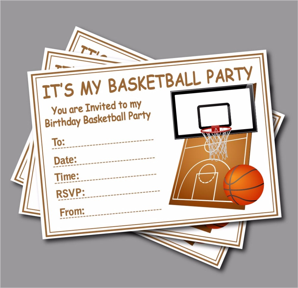 14 Pcs Lot Sports Basketball Birthday Invitations Custom Baby Shower Invites Party Decoration Supplier Free Shipping In Cards From