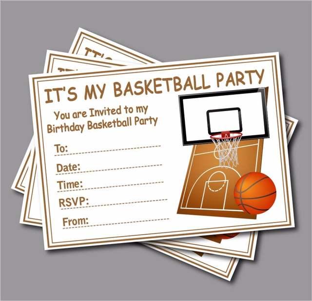 14 Pcs Lot Sports Basketball Birthday Invitations Custom Baby Shower