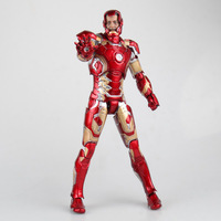 HC Hot Toys Avengers Iron Man Mark XLII Gloden Black Ver. PVC Action Figures Toys