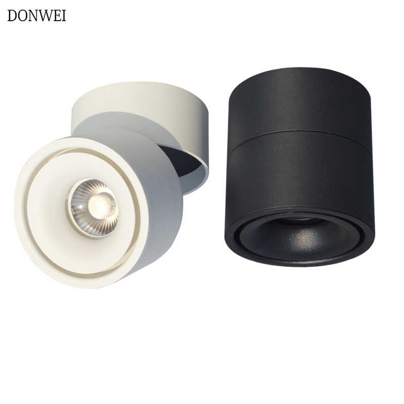 85-265V 5W/7W/10W/12W COB LED surface mounted Ceiling lamp Foldable and 360 degree Rotatable COB background spot light