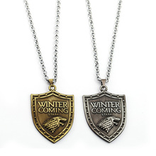 Game of Thrones Necklace Men Long Metal Chain House Stark Wolf Pendants Necklace Women Punk Accessories Fashion kolye New 2019 цена