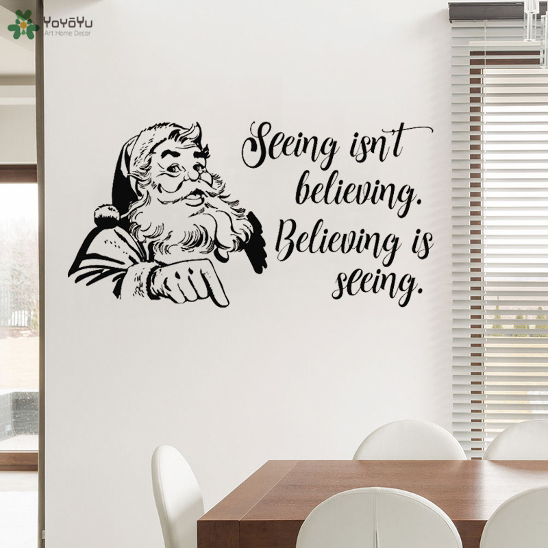 yoyoyu wall decal santa claus quotes vinyl wall stickers christmas