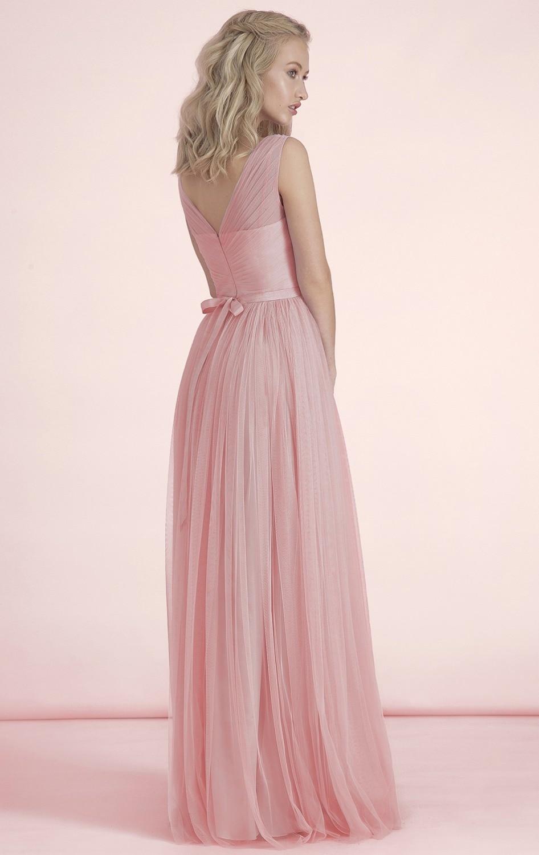 Hermosa Vestidos De Dama De Rosa Bajo 100 Embellecimiento - Ideas de ...