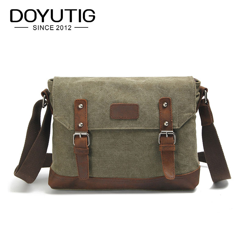 vintage fashion unisex canvas messenger bag book laptop school shoulder bags ladies women crossbody bags handbag men travel bag Army Green Vintage Men's Messenger Bags Canvas Shoulder Bag Fashion Men Travel Crossbody Bag For Boy School Shoulder Bags G036