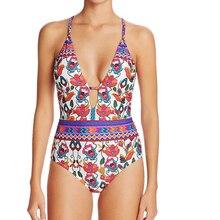 Hot 2018 Women Floral Printed One-Piece Bikinis Set Swimsuit Swimwear Bathing Suit Beachwear Bikini