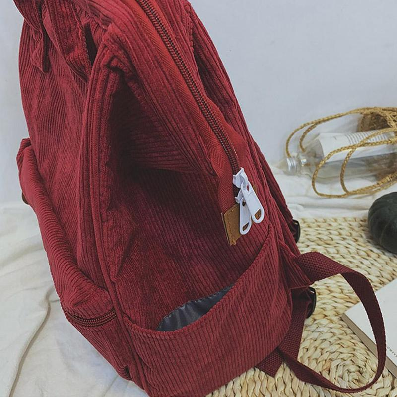 HTB1bVyBavb2gK0jSZK9q6yEgFXa1 Corduroy Backpacks For Women 2019 Mochila Fashion Winter Casual Style Ladies Solid Color Back Pack Female Teen Girls School Back