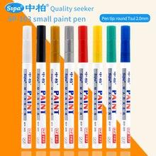 Metal Waterproof Permanent Marker Pen 12Pcs Car Tyre Tire Tread CD Oily Marker Pen Graffti Brush Pen Art Painting Markers SP103 цена 2017