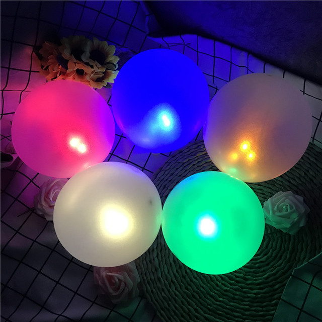 10Pcs/Lot Switch balloon LED flash luminous Lamps Tumbler light Bar lantern Christmas wedding party decorations birthday decor