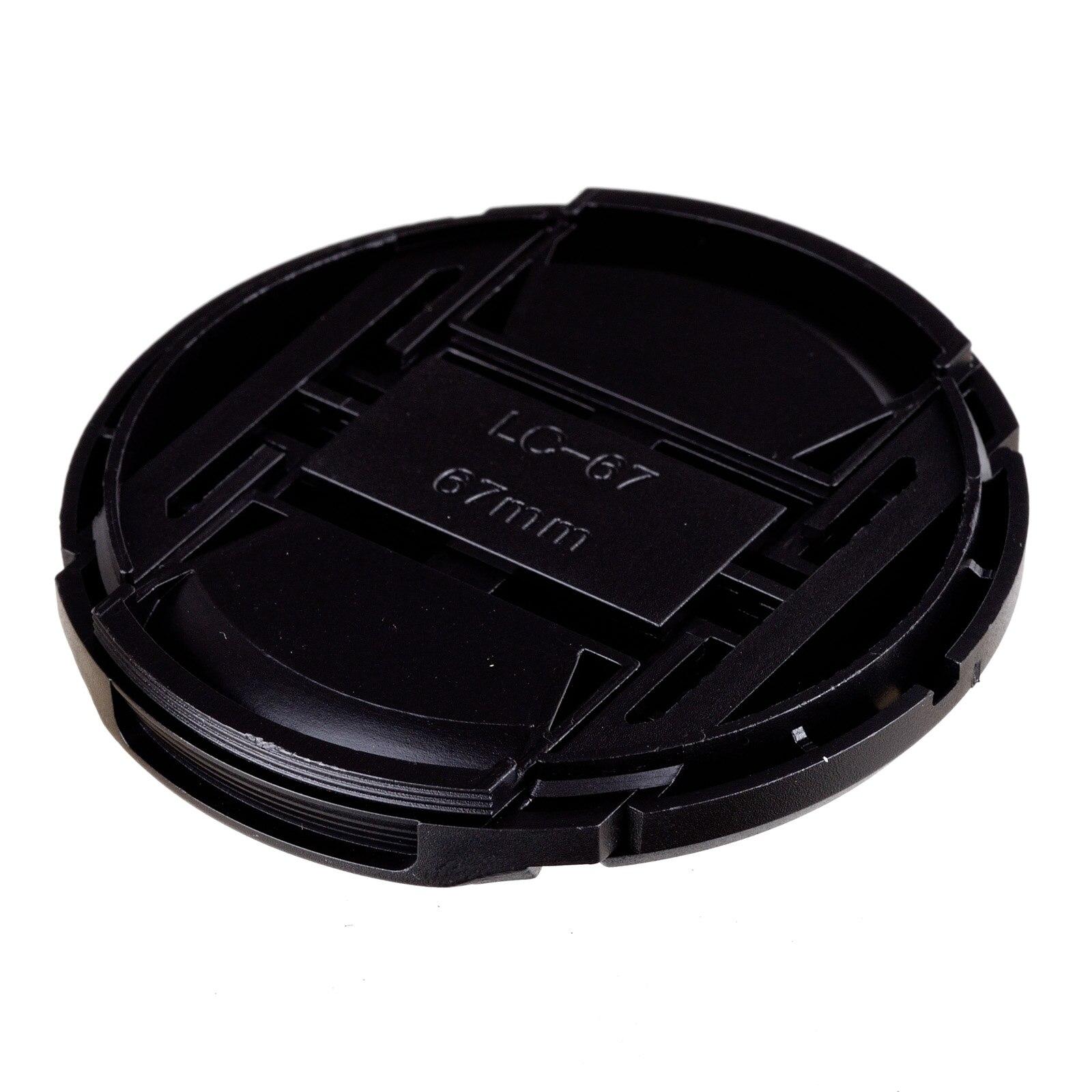 100 шт/партия 67 мм Центральная защелкивающаяся передняя крышка объектива Крышка для объектива камеры + Бесплатный номер отслеживания - 4
