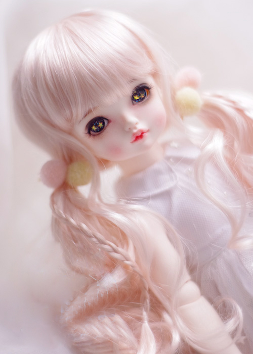 BJD doll wigs pink bunches Imitation mohair hair wigs for 1/4 1/8 BJD DD SD MSD doll long curly hair wigs цена