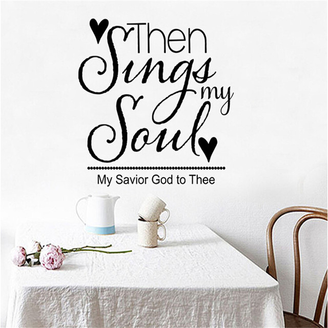 Sing My Song Text Pattern Wall Stickers Living Room Bedroom Children TV Sofa Background Decoration
