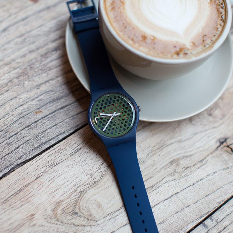 Swatch watch original color series quartz men's watch SUON113 цена и фото