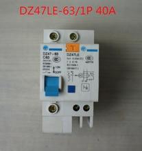 household DZ47LE 40A earth leakage circuit breaker 1P C40 230V