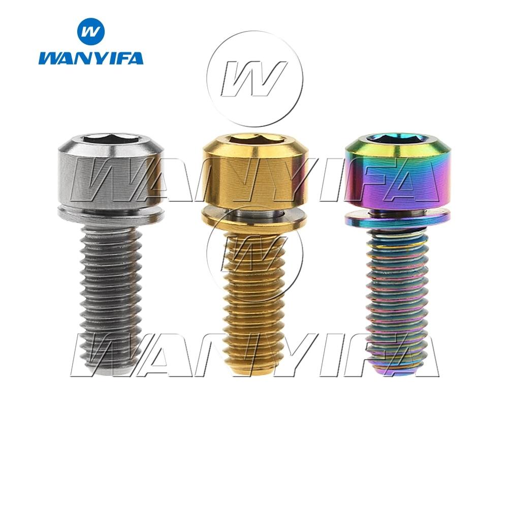 6pcs Ti Titanium Socket Head Bolts M5x20mm Disc Brake Adapter Mount