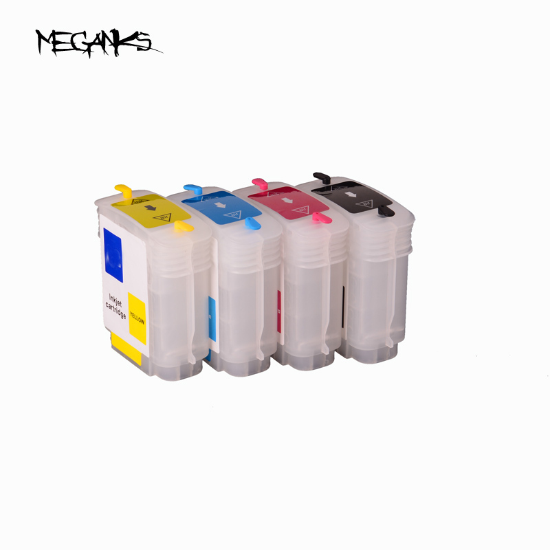 Free shipping 5 sets 10 82 empty ink cartridge for HP Designjet 500 800 69ML refillale ink cartridge with chip 1set free shipping for hp 932 933 ink cartridge permanent chip for hp officejet 6700 ink jet printer auto reset chip