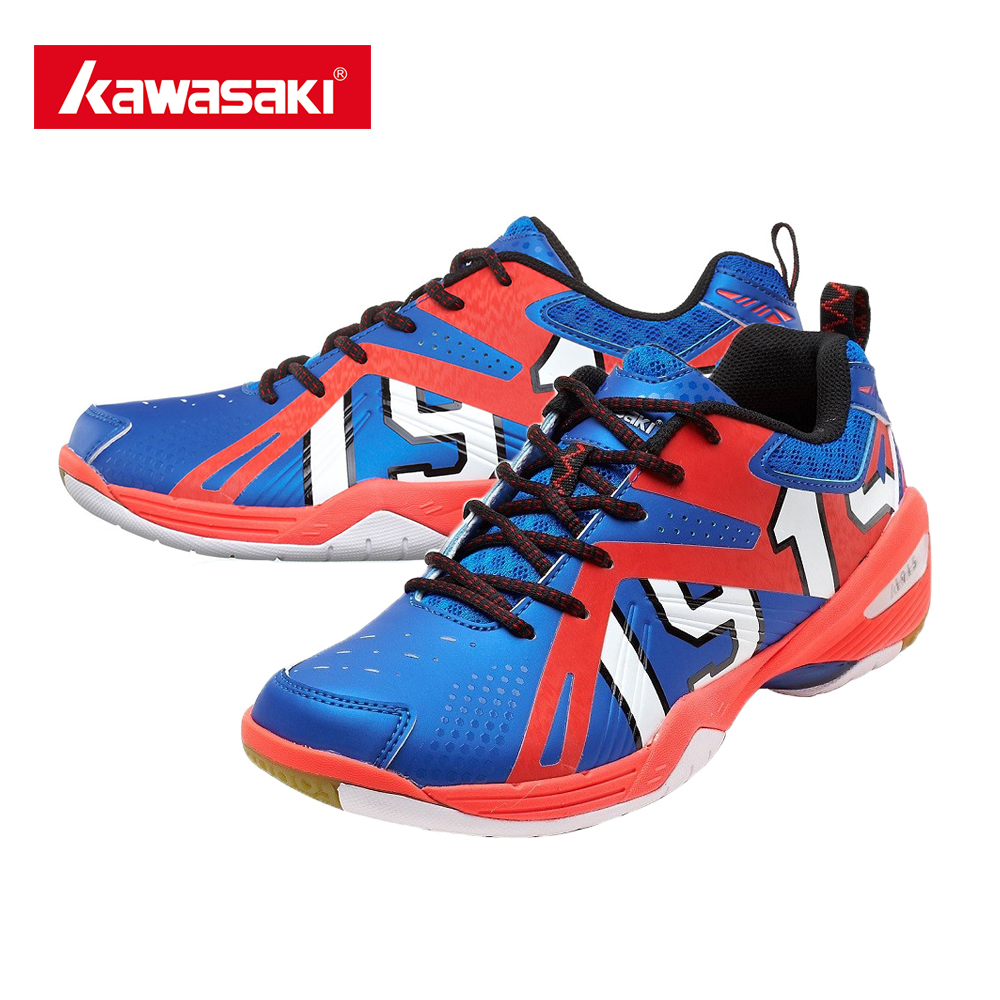 ФОТО 100% Original Kawasaki Badminton Shoes K-515 Men And Women Badminton Training Shoes Jufeng Series Shoes With Free Socks Gift