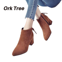 Ork Tree 2017 New Women Boots Spring Autumn Fashion Ankle Boots Warm Soft Outdoor Casual Women