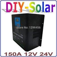 12 В 24 В PV Панели солнечные Батарея Зарядное устройство регулятор 150a Солнечные энергетические установки контроллера заряда Применение для с
