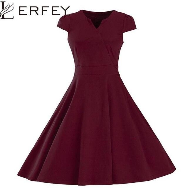 LERFEY Frauen Sommer 1950 s Vintage kleid Partei Elegante Kleider ...