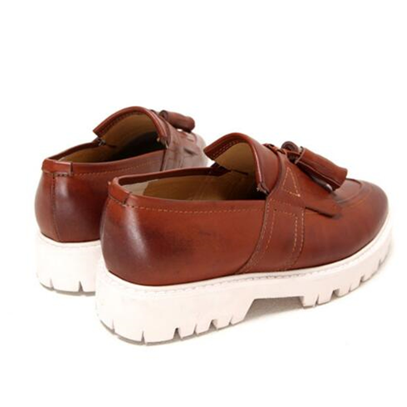 Männlichen full Leder Komfortable Quaste Wohnungen Britischen Männer Stil Müßiggänger Schuhe Schwarzes Black Erhöhen Höhe Echtem Casual brown 033 qaaRn80vU