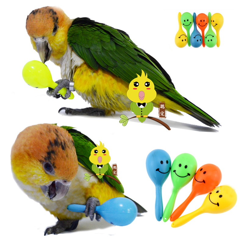 yellow Birds Hanging Acrylic Hollow Ball with Ringing Bell Swing Cage Accessory for Parakeet Cockatiels Small Medium Parrot Pet Parrot Bites Chew Toy