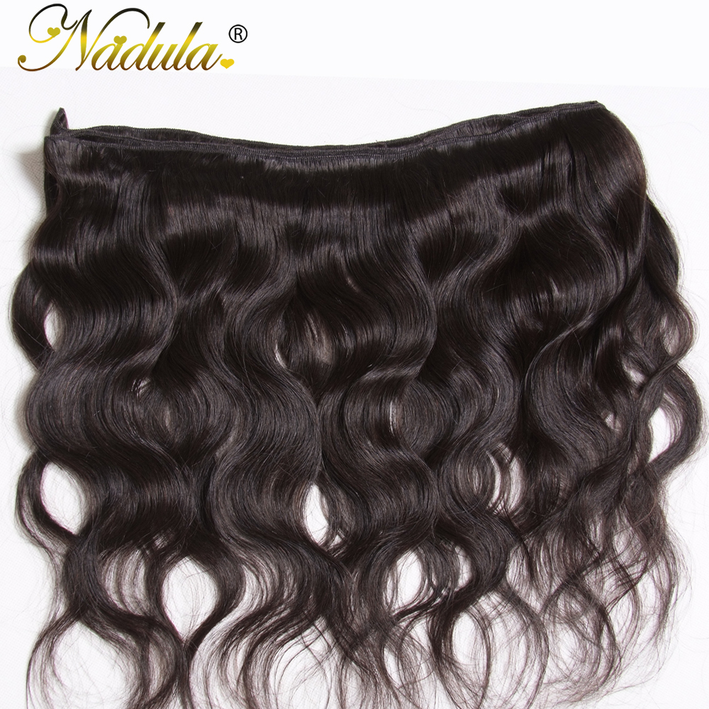 NADULA HAIR 3 / 4pcs / Lot Malayziya Bədən Dalğalı Saç - İnsan saçları (qara üçün) - Fotoqrafiya 6