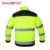 Vestuário de trabalho Dos Homens de alta qualidade ao ar livre multi-bolsos de segurança reflexiva jaqueta trabalho construção construtor workwear frete grátis