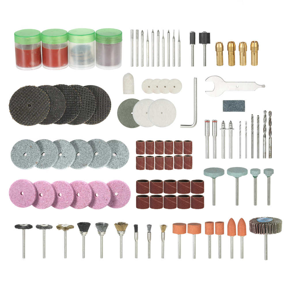 "136PCS 1/8"" Electric drill Grinder Accessories Set for Shank Rotary Tool Sanding Polishing Grinding Cutting engraving"