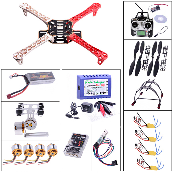 F450 Quadcopter Frame+A2212 Motor+XXD30A ESC+1045 propeller +Landing Gear set+QQ Super Flight Controller+T6 transmitter xxd 4pcs a2212 1000kv brushless motor with 4pcs 30a esc for multicopter quadcopter