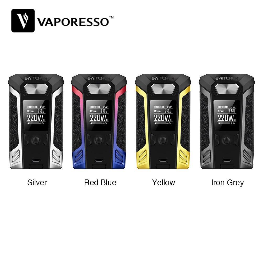 D'origine Vaporesso Switcher 220 W TC Boîte MOD W/0.96-pouces Écran Couleur pour NRG Réservoir Atomiseur Électronique Cigarette Switcher TC Mod
