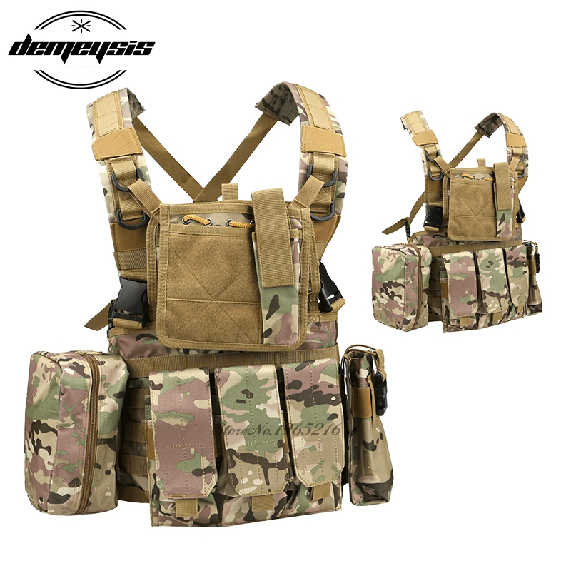 Multicam RRV Tactical Vest Nylon Molle Camouflage Vest Airsoft Tactial Gear Police Paintball Wargame Wear Body Armor