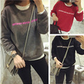 2015 Regular Solid Casual Tracksuits Maxi Necklace Emoji Sweatshirt Autumn Hoodies Cashmere  New Sexy Female Models