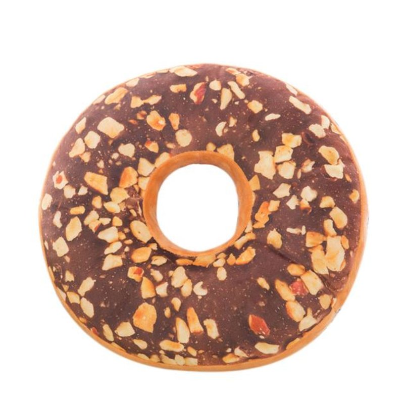 New Style Doughnut Shaped Ring Plush Soft Novelty Cushion Pillow Colorful  Donut Pizza Cushion For Chair Cojines Seat Accessory In Cushion From Home U0026  Garden ...