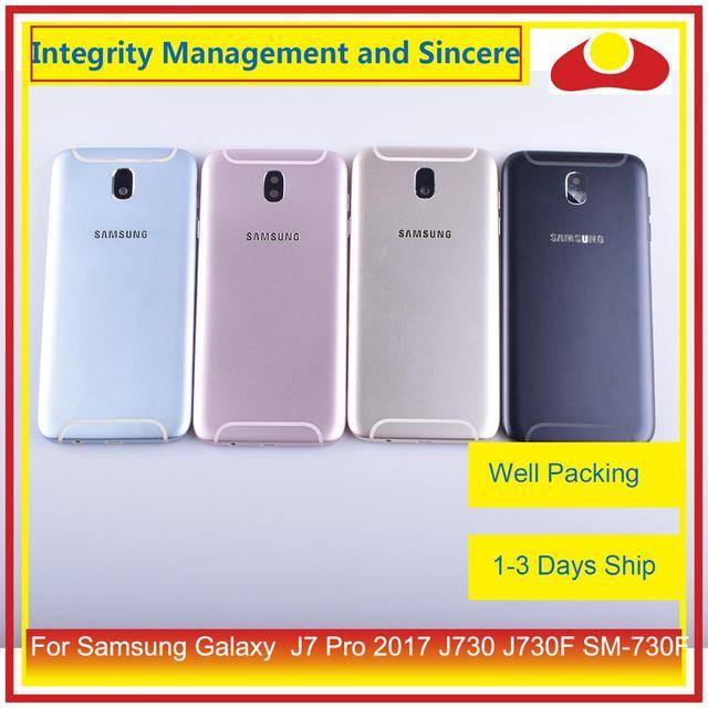 Original Für Samsung Galaxy J7 Pro 2017 J730 J730F SM 730F Gehäuse Batterie Tür Rahmen Zurück Abdeckung Fall Chassis Shell
