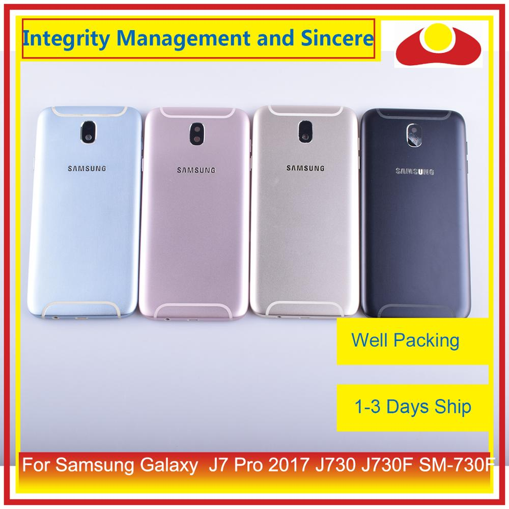 Original For Samsung Galaxy J7 Pro 2017 J730 J730F SM-730F Housing Battery Door Frame Back Cover Case Chassis Shell(China)