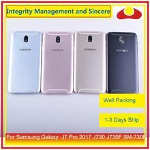 Oryginalny do Samsung Galaxy J7 Pro 2017 J730 J730F SM 730F obudowa klapki baterii rama tylna pokrywa Case podwozie Shell