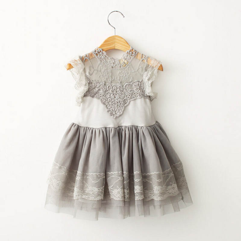 Children Clothings 2017 Summer style Girl Lace Dress Vintage Ruffles Toddler Girls Princess Party/Birthday Tulle Dress Costumes ems dhl free shipping toddler little girl s 2017 princess ruffles layers sleeveless lace dress summer style suspender