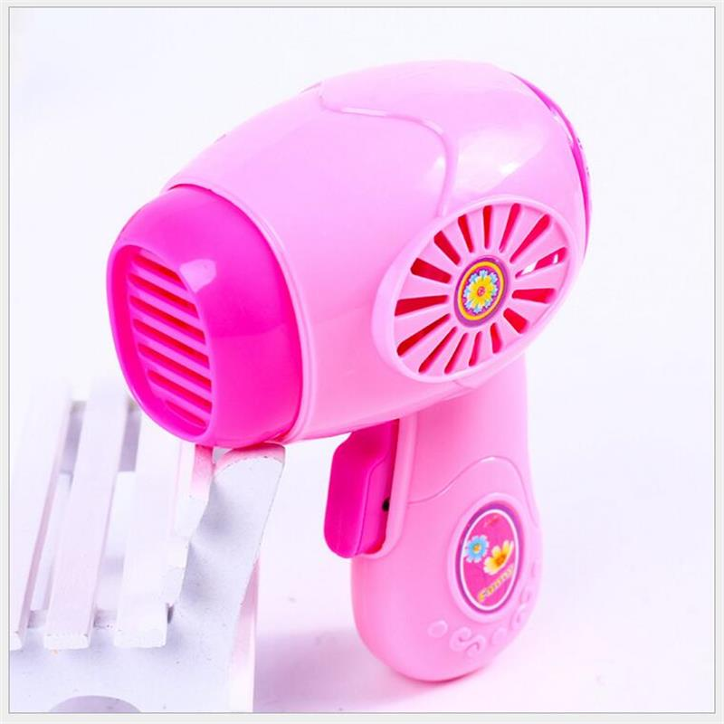 Kids Pretend Play Toy Mini Electric Hair Dryer Kids Children Simulation Play House Toys For Girl Pink Hairdryer For Children