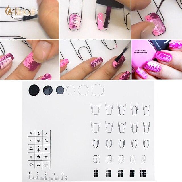 1Pcs Silicone Nail Mat Polish Pads Multiple Use Foldable Nail Art ...