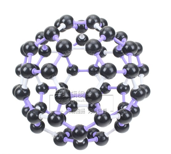 chemical molecular structure c60 crystal structure model 3120 c60