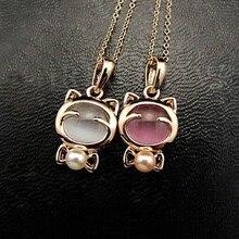 Мода длинное ожерелье-колье Минимальный заказ$10(смешанный заказ),, новые модные женские сапоги с изображением кота для опал короткий кулон Лидер продаж N119