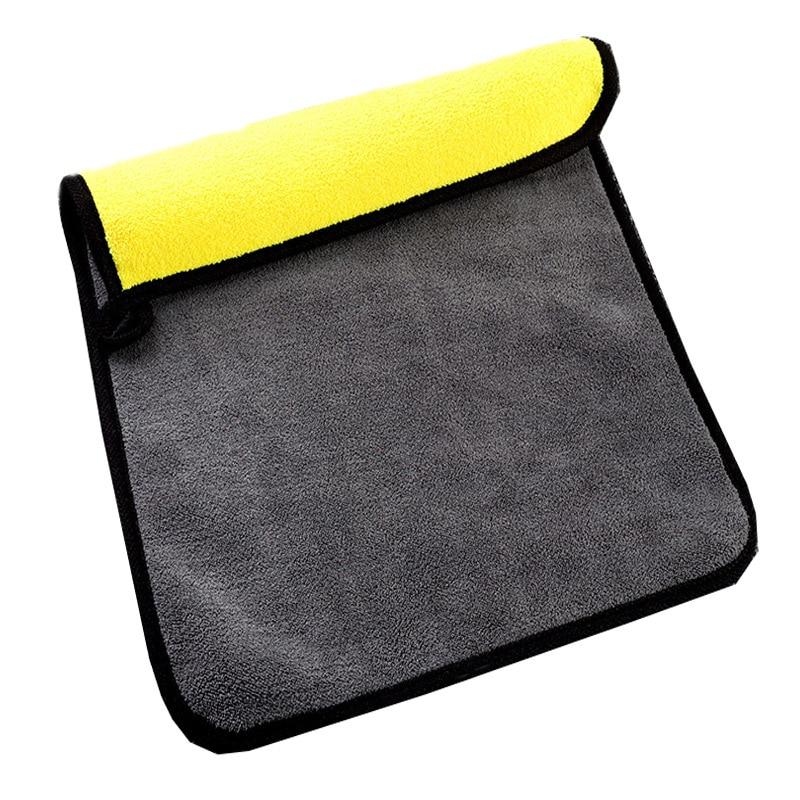 Super Absorbent Car Wash Microfiber Towel Car Cleaning Drying Cloth Hemming Car Care Cloth Detailing Towel