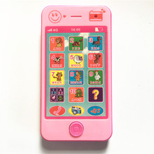 2 colors Kids russian toy phone Baby learning machine Electronic Toys kids mobile