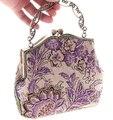 Frete grátis fêmea Retro saco de bordados de flores pulseira artesanal bolsa saco clássico 6 7213