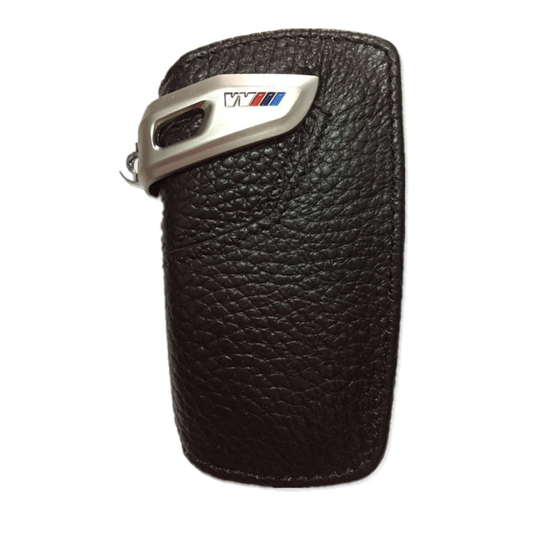 Genuine leather car key case cover key rings for bmw F10 F20 F30 NEW 1 2 3 4 5 6 7 series X3 X4 320I 116I 118I 328I Key Case