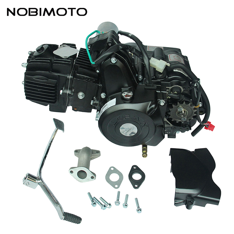 Пит Байк 125cc Электрический ноги начинают Двигатели для мотоциклов для Lifan 125cc 3 + 1 Обратный Шестерни верх Стиль Электрический ноги начать Дви